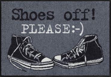 Shoes off Please 50 x 75 cm von Salonloewe waschbare Fußmatte