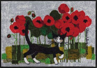 Rosina Wachtmeister Fußmatte Poppywalk von Salonloewe waschbare Katzenfußmatte – Bild 1