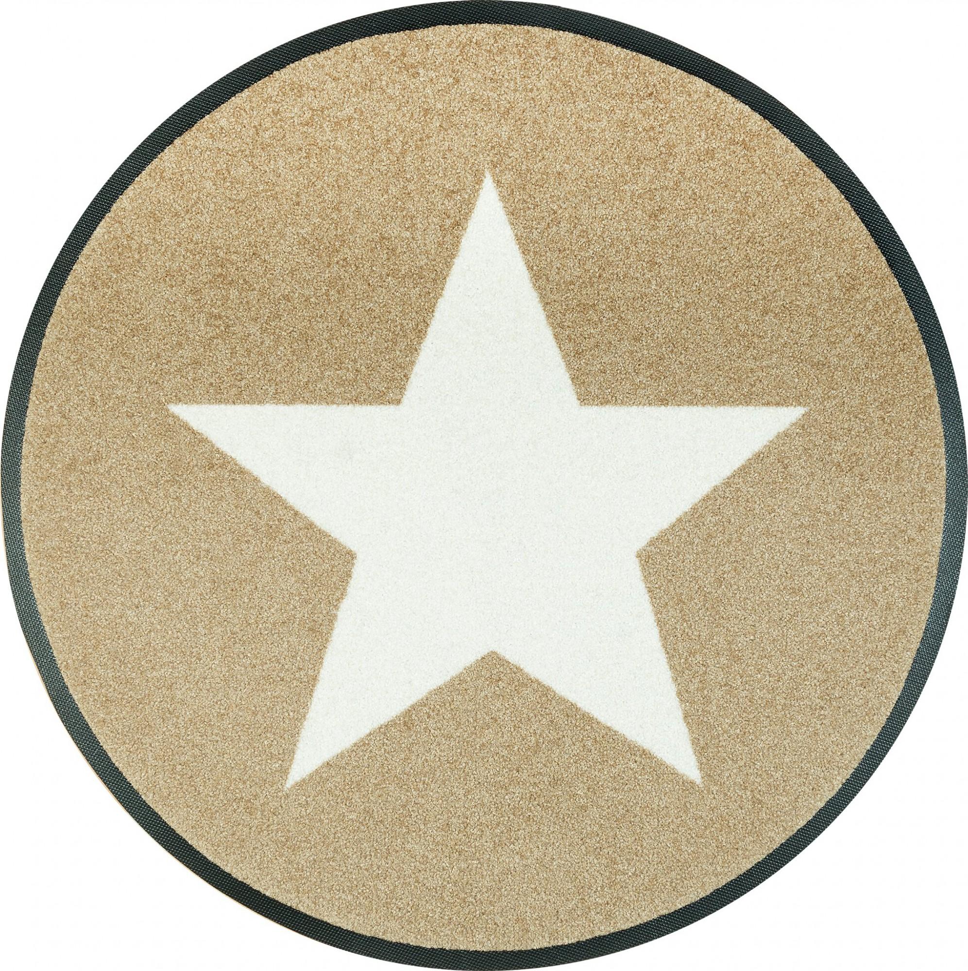 wash dry fu matte stars sand rund 75 cm waschbare fu matte. Black Bedroom Furniture Sets. Home Design Ideas