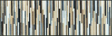 wash+dry Mikado Stripes nature waschbare Fußmatte