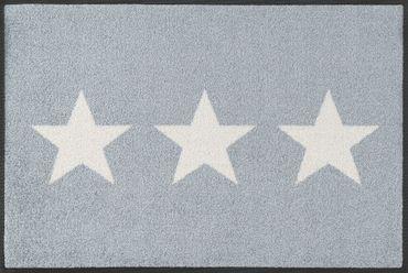 wash+dry Fußmatte Stars grey 40 x 60 cm waschbare Fußmatte