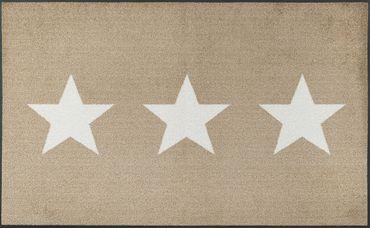 wash+dry Fußmatte Stars sand 40 x 60 cm waschbare Fußmatte