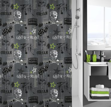 Kleine Wolke Textiler Duschvorhang Punk 180 x 200 cm  – Bild 1