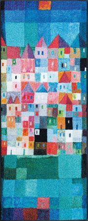 wash+dry Fußmatte Colourful Houses by Eugen Stross waschbar – Bild 3