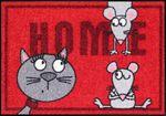Salonloewe Fußmatte Cat and mice 50 x 75 cm waschbare Fußmatte 001