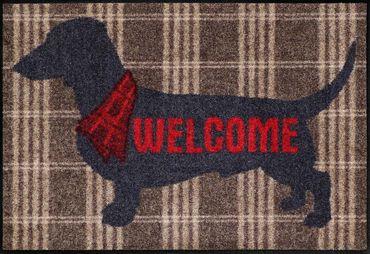 Salonloewe Fußmatte Welcome Dog 50 x 75 cm von Salonloewe waschbare Fußmatte