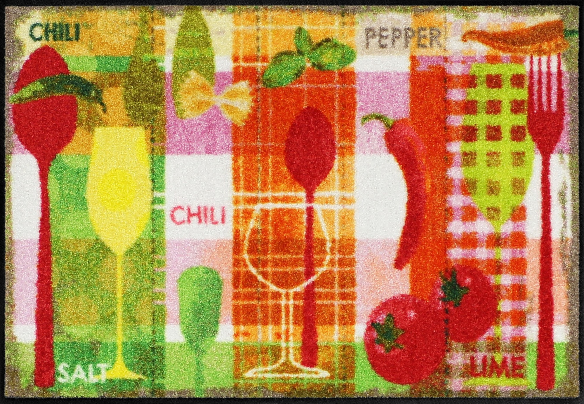 Salonloewe kuchenteppich kitchen collage waschbar for Küchenteppich waschbar