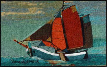 Salonloewe Fußmatte Sail Away 50 x 75 cm Rosina Wachtmeister Maritimes Motiv