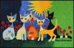 Salonloewe Fußmatte Una bella compagnia waschbare Fußmatte 50 x 75 cm Rosina Wachtmeister 001