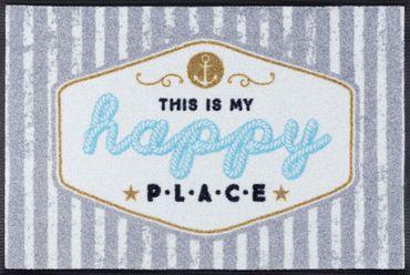 wash+dry Fußmatte Happy Place waschbare Fußmatte  – Bild 2