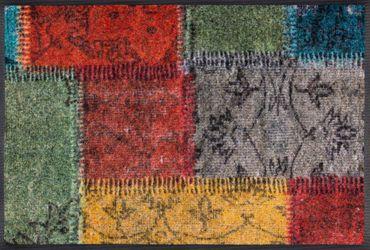 wash+dry Fußmatte Vintage Patches waschbare Fußmatte
