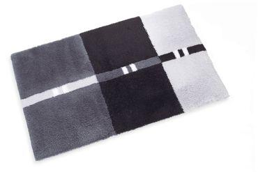 Wunschmaß Badteppich Trento Grau dunkel – Bild 1