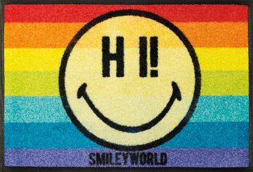 wash+dry Fußmatte Smiley Rainbow waschbare Fußmatte  – Bild 1