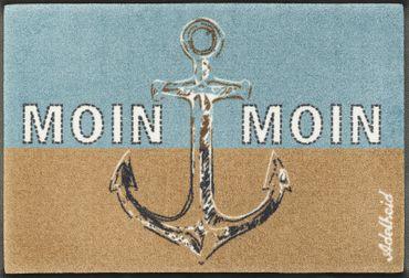 wash+dry Fußmatte Moin Moin 50 x 75 cm waschbare Fußmatte Maritime Matte
