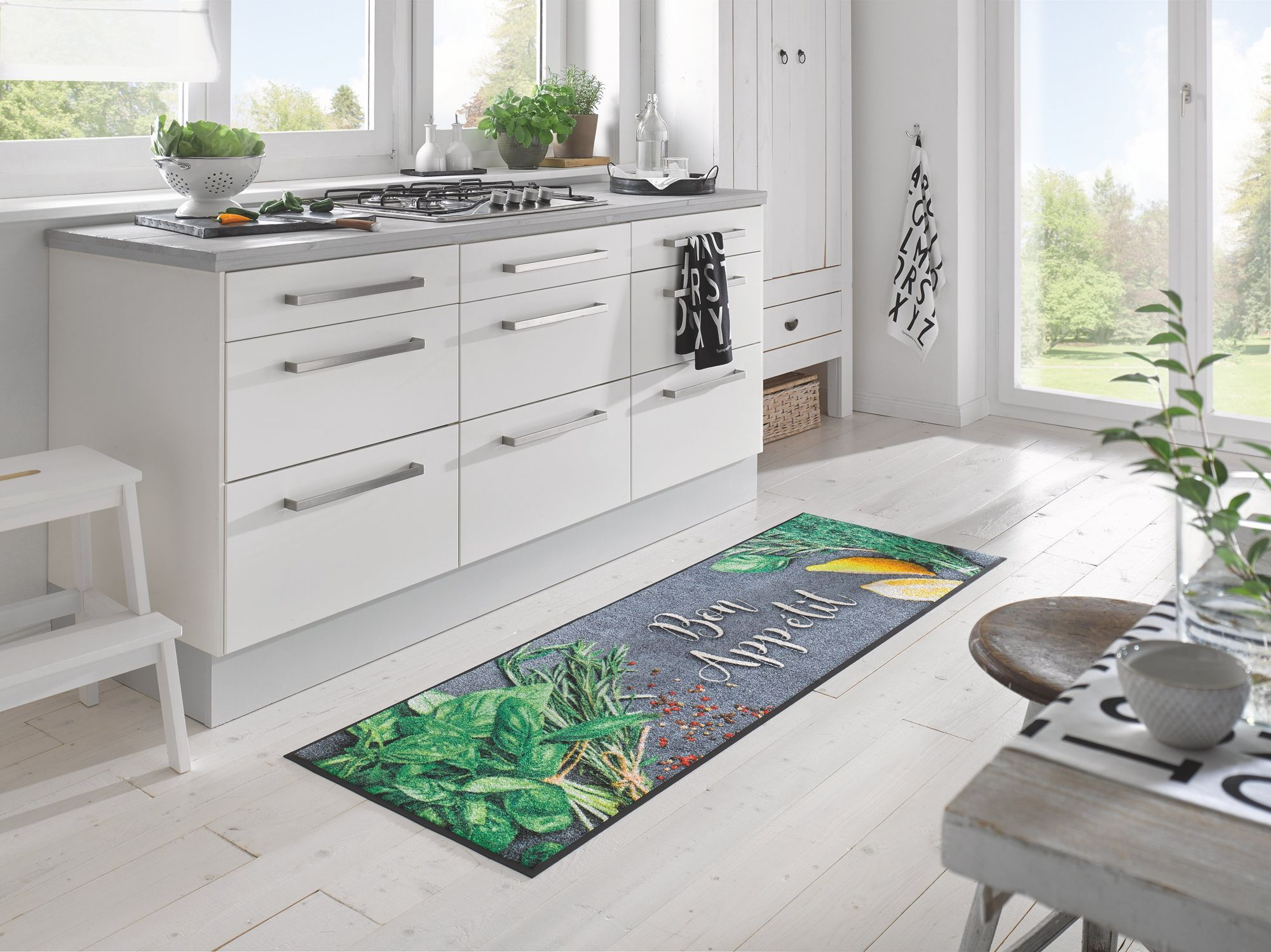 wash dry fu matte bon app tit k chenteppich waschbare fu matte. Black Bedroom Furniture Sets. Home Design Ideas