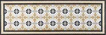 wash+dry Küchenteppich Kitchen Tiles waschbare Fußmatte  – Bild 1