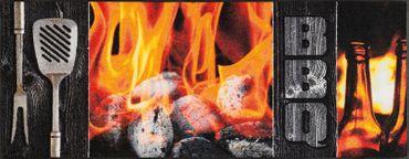 wash+dry Küchenteppich Smokey Flames waschbare Fußmatte  – Bild 2
