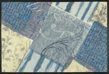 wash+dry Schmutzmatte Blueprint waschbare Fußmatte  – Bild 1