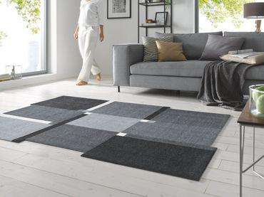 wash+dry Living Squares black waschbarer Teppich – Bild 4