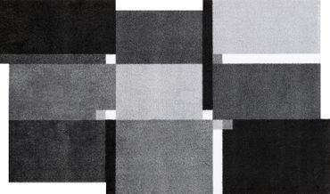 wash+dry Living Squares black waschbarer Teppich