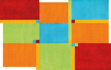 wash+dry Living Squares multi waschbarer Teppich – Bild 2