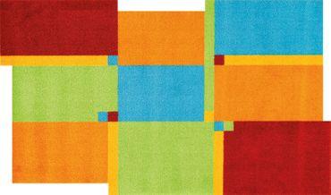 wash+dry Living Squares multi waschbarer Teppich – Bild 1