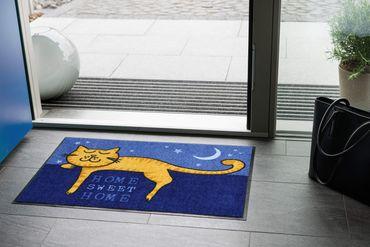 Salonloewe Fußmatte Katzentraum 50 x 75 cm Katzenfußmatte waschbare Schmutzmatte – Bild 2