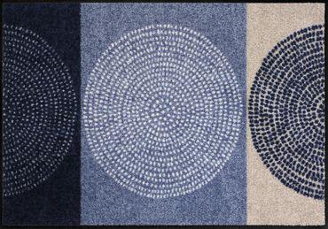 Salonloewe Fußmatte Nestor denim waschbare Schmutzmatte Kreis robust – Bild 2