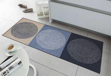 Salonloewe Fußmatte Nestor denim waschbare Schmutzmatte Kreis robust – Bild 8