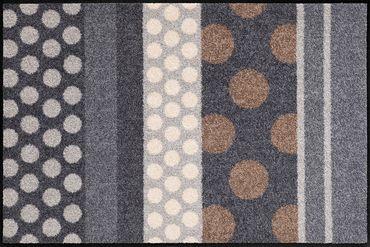 Salonloewe Fußmatte Glamour Dots Grau waschbare Schmutzmatte – Bild 2