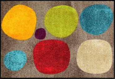 Salonloewe Fußmatte Broken Dots Colourful waschbare Schmutzmatte