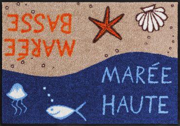 Salonloewe Fußmatte Mareé 50 x 75 cm waschbare maritime Schmutzmatte