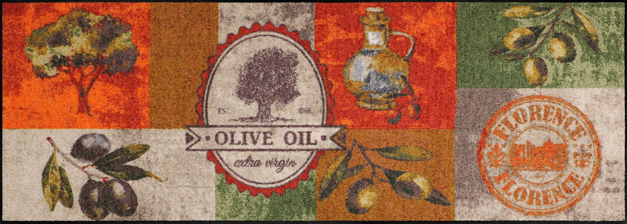 salonloewe k chenteppich olive oil waschbar trocknergeeignet rutschfest. Black Bedroom Furniture Sets. Home Design Ideas