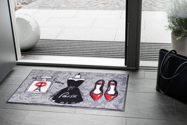 Salonloewe Fußmatte Paris Chic waschbare Schmutzmatte – Bild 2