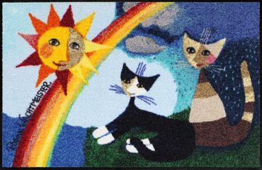 Rosina Wachtmeister Fußmatte Arcobaleno 50 x 75 cm waschbare Schmutzmatte Katzenfußmatte – Bild 1