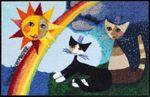 Rosina Wachtmeister Fußmatte Arcobaleno 50 x 75 cm waschbare Schmutzmatte Katzenfußmatte