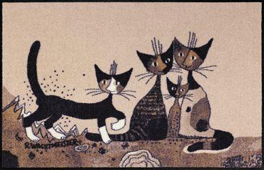 Rosina Wachtmeister Fußmatte Serafino & Friends 75 x 120 cm waschbare Schmutzmatte Katzenmatte