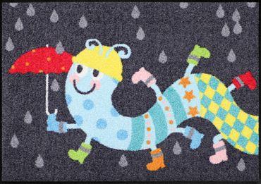 Salonloewe Fußmatte Tausendstiefler 50 x 75 cm Witziger waschbarer Türvorleger – Bild 1