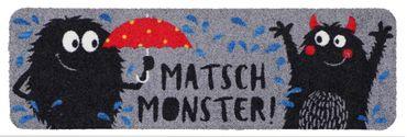 Salonloewe Minimatte Matschmonster lustige kleine Fußmatte Schuhablage – Bild 3