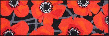 Salonloewe Fußmatte Bloom Poppy Black Leuchtend rote Mohnblumen – Bild 3