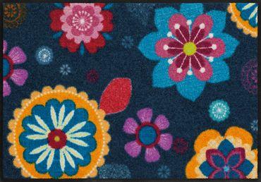 Salonloewe Fußmatte Bohemian Flower 50 x 75 cm waschbarer Türvorleger – Bild 1