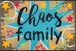 wash+dry Fußmatte Chaos Family 50 x  75 cm waschbare Schmutzmatte  001