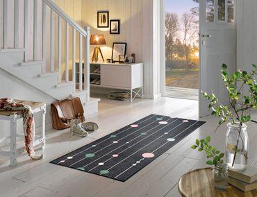 wash+dry Fußmatte Circles on Lines 75 x 190 cm waschbare Schmutzmatte – Bild 2