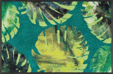 wash+dry Fußmatte Philo Leaves waschbare Schmutzmatte floral Blumenmotiv