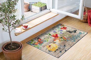 Salonloewe Fußmatte Robin Wood 50 x 75 cm waschbare Schmutzmatte Floral – Bild 2