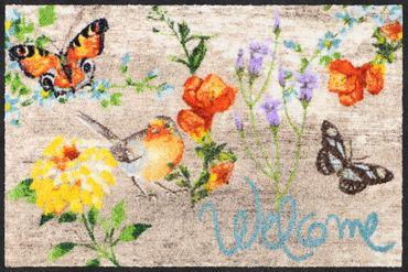 Salonloewe Fußmatte Robin Wood 50 x 75 cm waschbare Schmutzmatte Floral – Bild 1