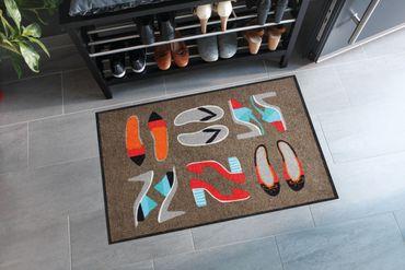 Salonloewe Fußmatte Shoe Collection taupe 50 x 75 cm waschbare Schmutzmatte  – Bild 2