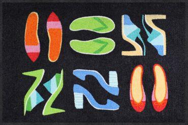 Salonloewe Fußmatte Shoe Collection black 50 x 75 cm waschbare Schmutzmatte  – Bild 1