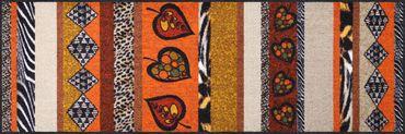 Salonloewe Fußmatte Ethno Stripes waschbar Schmutzmatte Willkommen – Bild 3
