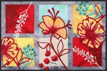 Salonloewe Fußmatte Spring Delight waschbar Schmutzmatte Blumen – Bild 1
